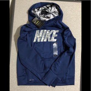 Nike Therma Blue/Grey Hooded Sweatshirt